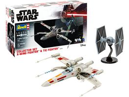 Revell 6054 X Wing Fighter plus TIE Fighter 1 57 plus 1 65