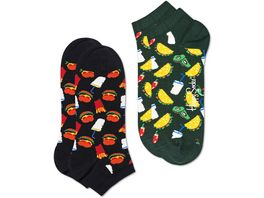 Happy Socks Sneaker Hamburger low Unisex 2er Pack