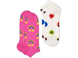 Happy Socks Sneaker Happy Rainbow low Unisex 2er Pack