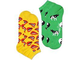 Happy Socks Sneaker Lips low Unisex 2er Pack