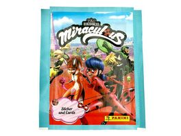 Panini Miraculous Ladybug Hybrid Trading Cards Sticker 1 Booster Pack 4 Sticker 1 Karte