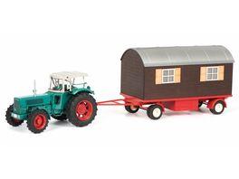 Schuco Edition 1 32 Hanomag Robust mit Schaustellerwagen 1 32