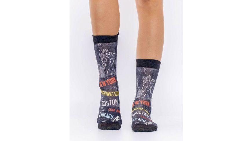 wigglesteps Damen Socken CITIES OF US