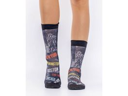 wigglesteps Damen Socken CITIES OF US
