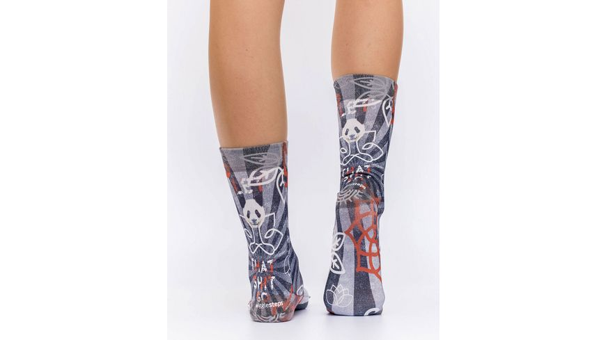 wigglesteps Damen Socke PANDA YOGA