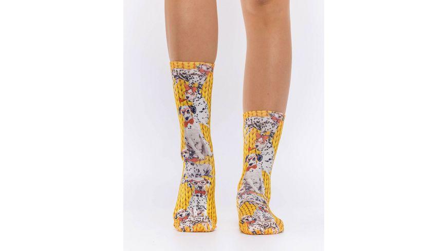 wigglesteps Damen Socke DALMATION