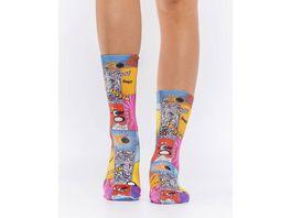 wigglesteps Damen Socken COMIC SPLASH