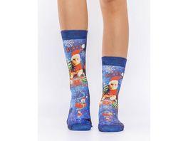 wigglesteps Damen Socke SANTA CAT S