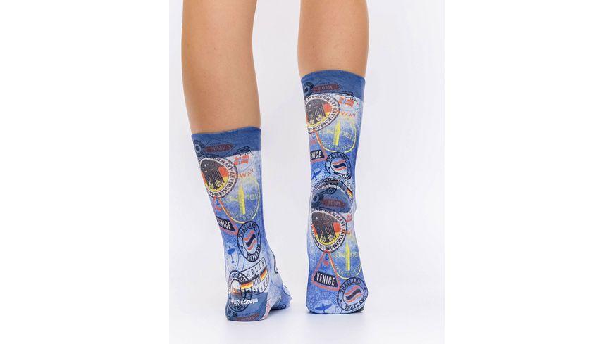 wigglesteps Damen Socke POSTMARK II W