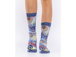 wigglesteps Damen Socken POSTMARK II W