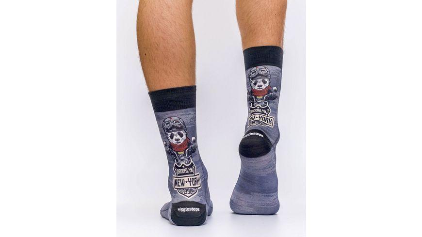 wigglesteps Herren Socke PANDA MOTOR
