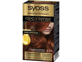 syoss Oleo Intense Oel Coloration 5 77 Glaenzendes Kupferrot Stufe 3