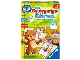 Ravensburger Spiel Die Bewegungs Baeren von Ravensburger das Bewegungsspiel fuer Kinder von 3 6 Jahren
