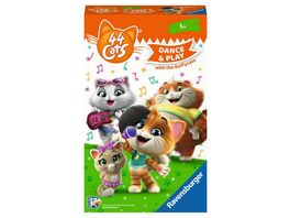 Ravensburger Spiel Mitbringspiel 44 Cats Sing and Dance with the Buffycats ein Such und Bewegungsspiel fuer Fans ab 5 Jahren