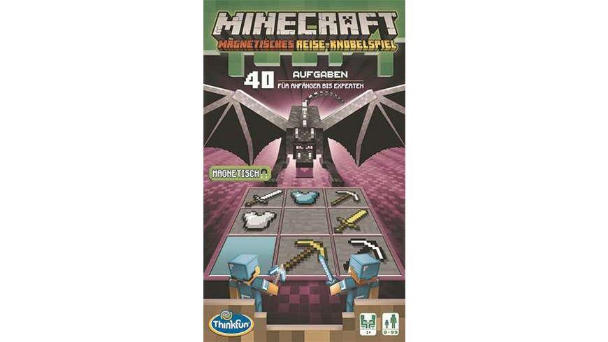 Thinkfun - Minecraft - Das magnetische Reisespiel. Perfekt für die Reise und als Geschenk! Ein Logikspiel nicht nur für Minecraft-Fans