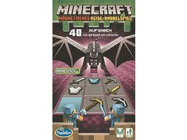 Thinkfun Minecraft Das magnetische Reisespiel Perfekt fuer die Reise und als Geschenk Ein Logikspiel nicht nur fuer Minecraft Fans