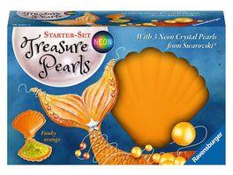 Ravensburger Beschaeftigung Starter Set Treasure Pearls Neon Funky orange Schmuck zum Selbstgestalten mit Perlen von Swarovski