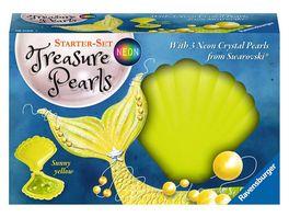 Ravensburger Beschaeftigung Starter Set Treasure Pearls Neon Sunny yellow Schmuck zum Selbstgestalten mit Perlen von Swarovski