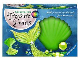 Ravensburger Beschaeftigung Starter Set Treasure Pearls Neon Styly green Schmuck zum Selbstgestalten mit Perlen von Swarovski
