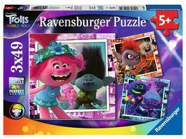 Ravensburger Puzzle Trolls Welttournee 3 x 49 Teile