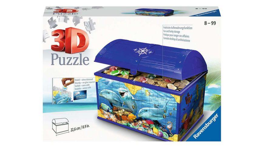 Ravensburger Puzzle - 3D Puzzles - Schatztruhe Unterwasserwelt, 216 Teile