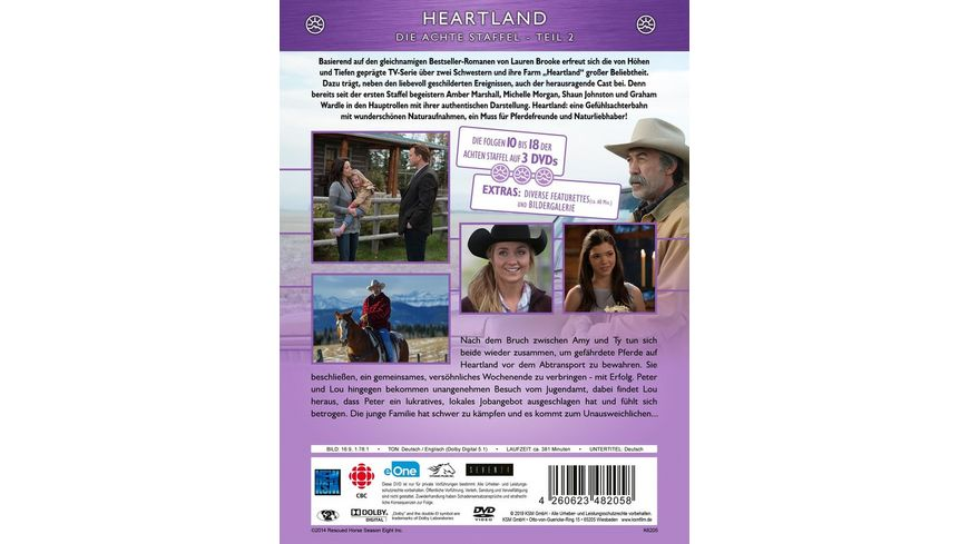 Heartland Paradies fuer Pferde Staffel 8 2 Episode 10 18 3 DVDs