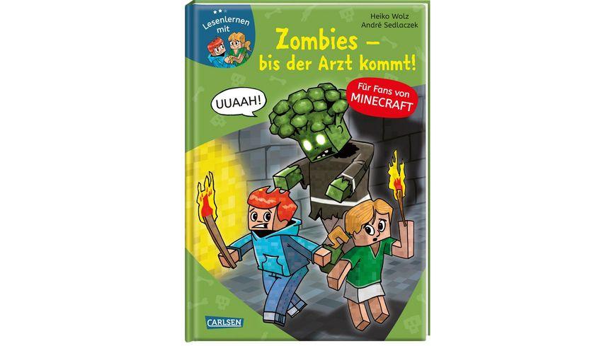 Lesenlernen mit Spass Minecraft Band 1 Zombies bis der Arzt kommt Fuer Fans von Minecraft