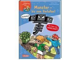Lesenlernen mit Spass Minecraft Band 2 Monster bis zum Umfallen Fuer Fans von Minecraft