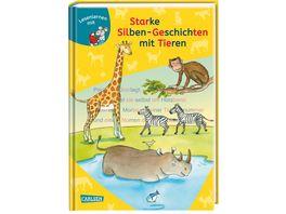 LESEMAUS zum Lesenlernen Sammelbaende Starke Silben Geschichten mit Tieren zum Lesenlernen Extra Lesetraining Lesetexte mit farbiger Silbenmarkierung