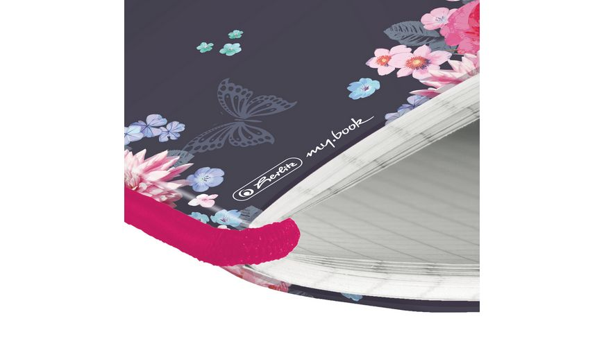 herlitz my book flex Notizheft PP A5 40Blatt kariert Ladylike Flowers