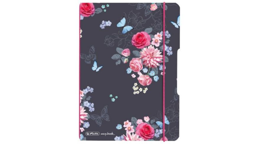 herlitz my.book flex Notizheft PP A5 40Blatt kariert Ladylike Flowers
