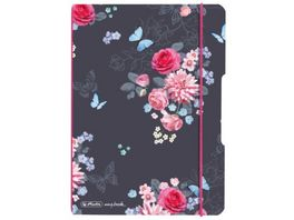 herlitz my book flex Notizheft PP A5 40Blatt kariert Ladylike Flowers