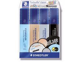 STAEDTLER Textmarker Textsurfer classic colors 4er Etui