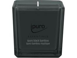 ipuro Kerze Essential Black Bamboo
