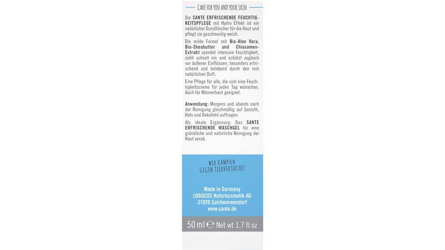 SANTE Erfrischende Feuchtigkeitscreme Bio Aloe Vera Chiasamen