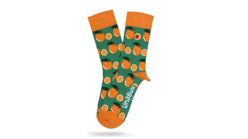 Unabux Unisex Socken Orange World