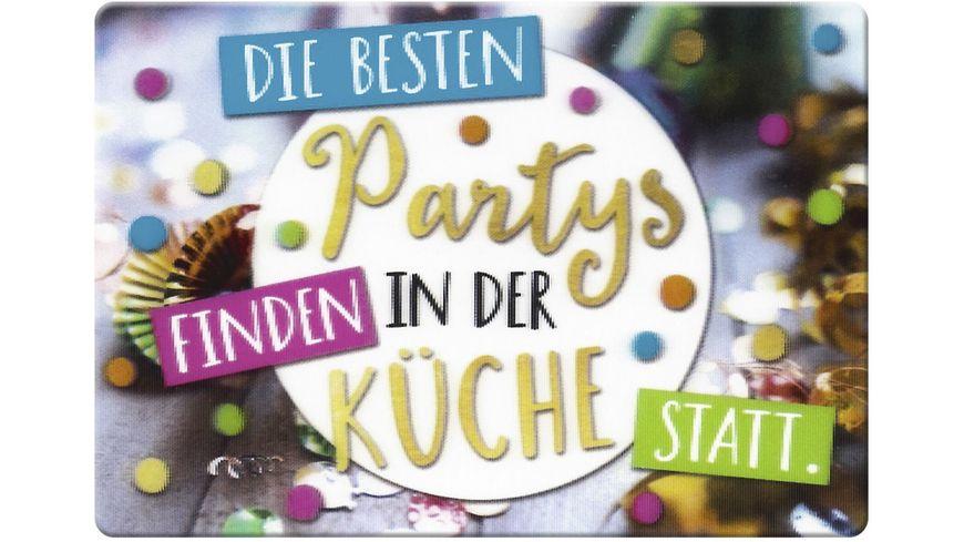 GRUSS & CO Magnet 3D »Die besten Partys finden in der Küche statt.«