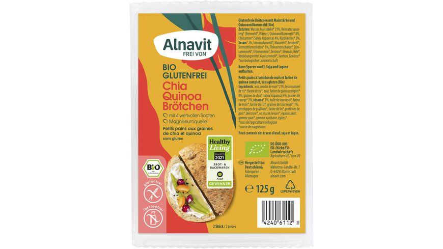 Alnavit Bio Chia Quinoa Brötchen - glutenfrei