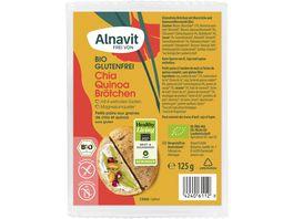 Alnavit Bio Chia Quinoa Broetchen glutenfrei
