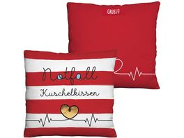 GRUSS CO Plueschkissen Notfall Kuschelkissen