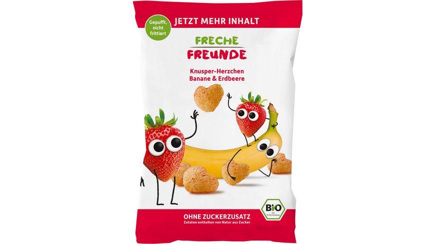 Freche Freunde Bio Knusper-Herzchen Banane & Erdbeere