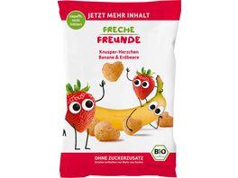 Freche Freunde Bio Knusper Herzchen Banane Erdbeere