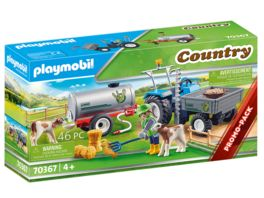 PLAYMOBIL 70367 Country Ladetraktor mit Wassertank