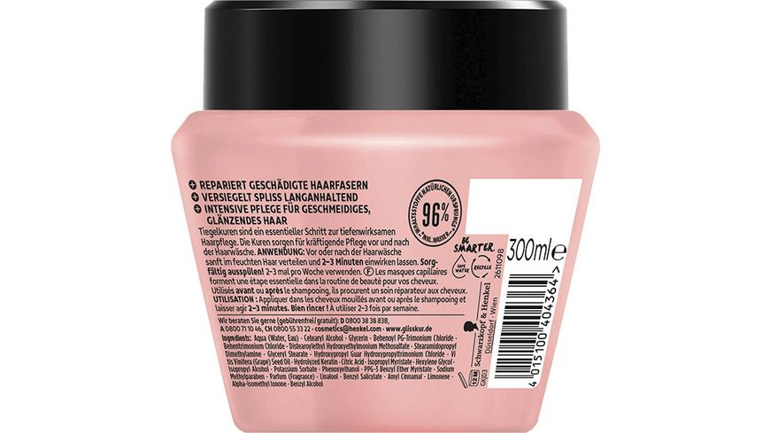 SCHWARZKOPF GLISS KUR Anti Spliss 2 in 1 Kur Anti Spliss Wunder