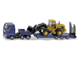 SIKU 1790 Super MAN LKW mit Tieflader und JCB Radlader