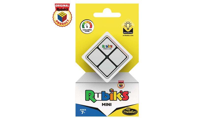 ThinkFun - Rubik's Mini, der Einstieg in die Welt des original Rubik's Cubes. Kompakter 2x2 Würfel und damit ein perfektes Geduldspiel für unterwegs.