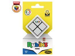 ThinkFun Rubik s Mini der Einstieg in die Welt des original Rubik s Cubes Kompakter 2x2 Wuerfel und damit ein perfektes Geduldspiel fuer unterwegs
