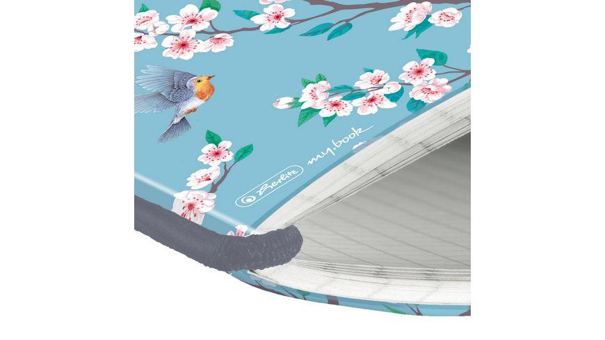 herlitz my book flex Notizheft PP A5 40Blatt kariert Ladylike Birds