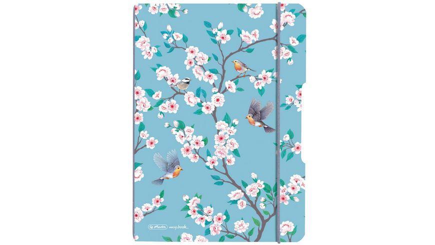 herlitz my.book flex Notizheft PP A5 40Blatt kariert Ladylike Birds