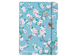 herlitz my book flex Notizheft PP A6 40Blatt kariert Ladylike Birds